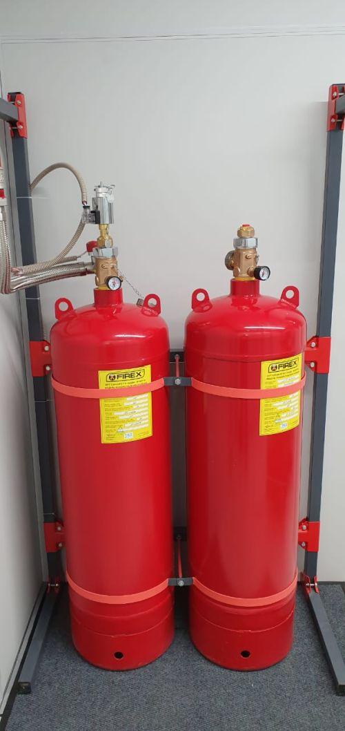 Установка системы пожаротушения